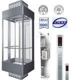 Ascenseur d'observation de Roomless de machine avec la cabine en verre de bonne qualité