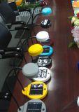 電池のRemoveableの太陽机表の読書ライトランプ