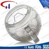 290ml熱い販売法のフットボールの形のガラスコーヒーカップ(CHM8174)