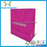 カスタム高品質の黒のペーパーギフトは卸しで袋に入れる