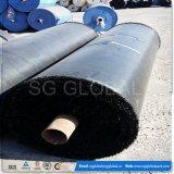 tissu 90GSM tissé par pp noir pour la construction