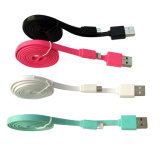 Carregador do cabo do USB de Colorfull e cabo de dados para o móbil de Andriod e de iPhone