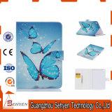 파란 PU에 의하여 그려지는 iPad 가죽 상자 나비