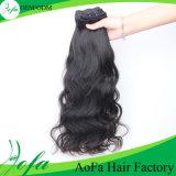 卸売価格のバージンのペルーの毛の人間の毛髪の織り方