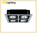 Projector Recessed da grade com a lâmpada AR111 para a iluminação interior/anúncio publicitário/hotel (RDG111-2)