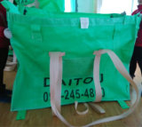 Pp.-grosser Massenbeutel mit grünem Gewebe