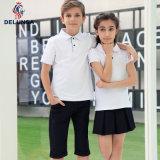 バルク白い小学校の均一ポロシャツ