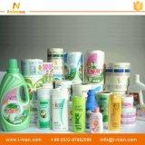 Escrituras de la etiqueta impresas adhesivas impermeables de encargo del detergente de lavadero del fabricante de China