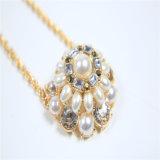 新しい項目ガラス玉の葉の吊り下げ式の方法宝石類のネックレス