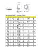 Noten DIN985 van het Tussenvoegsel van de hexuitdraai de Nylon met Zink Geplateerd Koolstofstaal