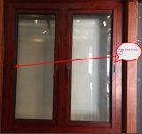 Ventana de aluminio del marco de los últimos diseños con construido en red de mosquito