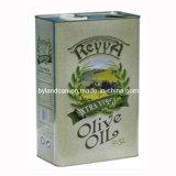 Boîte en fer blanc en métal pour l'huile d'olive 1000ml