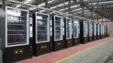 Máquina automática de venda automática com sistema de refrigeração para bebidas e lanches