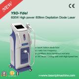 Máquina sin dolor del retiro del pelo del laser del diodo del laser 808 nanómetro de la vertical