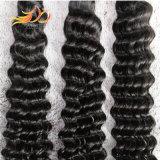 Extensão profunda de trama do cabelo humano da onda do cabelo do Virgin do Malaysian de 100%