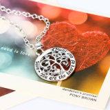 [موثر دي] مجوهرات هبة [تر وف ليف] مدلّاة [موم] أنت القلب من نا أسرة عقد
