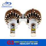 2016 ha fatto in Cina il LED Headlight 12 Months Super Bright Rosa-Golden con Cooling Fan Optional Bulbs, Better Than HID Xenon Kit