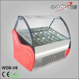 Congelatore portatile di memoria della visualizzazione del gelato con 6 piatti dell'acciaio inossidabile
