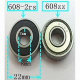 NSK Skateboard Deep Groove Ball Bearing 608zz, SKF Roulement à billes en céramique 608-2RS pour patins
