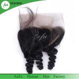 Fermeture frontale des cheveux vierges brésiliennes de 8 po à 20 po