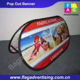 Изготовленный на заказ коммерчески декоративная ткань хлопает вверх знамя рамки
