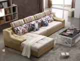 Sofá moderno, sofá da tela, sofá de couro (T02)