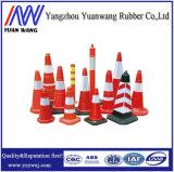Cones plásticos reflexivos do tráfego de estrada
