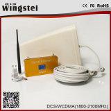 Mini amplificateur de signal de téléphone de l'or WCDMA 2100MHz 3G de taille de modèle neuf avec l'affichage à cristaux liquides