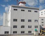 Stahlkonstruktion-Aufbau-Werkstatt-Fabrik-Gebäude