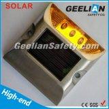 Espárragos temporales solares del camino del LED/espárragos reflexivos verdes del camino