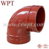 UL&FM Certificate Malleable Iron Fittings를 가진 Wpt Brand 90 Degree Elbow