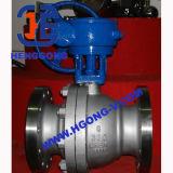 Válvula de esfera pneumática da flange do aço inoxidável 316 de DIN/JIS