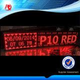 Modulo esterno del tabellone del LED del segno del modulo LED della visualizzazione di LED del quadro comandi del testo di Scrolling P10 LED