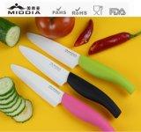 Cortador cerâmico colorido da faca do punho, dispositivo de cozinha