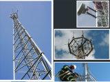 Torre de acero galvanizada tubular Legged del G/M Telcom tres autosuficientes