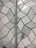 Kristallweiß und Bianco Carrara weiße Entwurfs-Marmor-Mosaik-Fliese der Wellen-3D