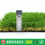 庭のための30mmのベージュ巻き毛の単繊維の人工的な草