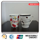 Tasse de porcelaine de forme de v pour la consommation quotidienne