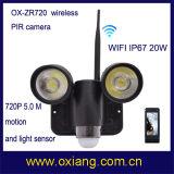 Cámara 720p WiFi PIR Luz con 30 metros de iluminación Range
