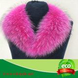 Fqactoryの緑のコートのキツネの毛皮のフード