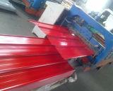 Лист листа толя 0.125-0.5mm гофрированный гальванизированный стальной для конструкции