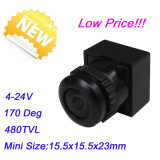 cámara del CCTV del mini voltaje amplio de la cámara +3.6-24V de Anlge 1/4 Cmos 480tvl de la visión 170deg mini (MC91B18)