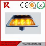 Do marcador de alumínio da estrada do diodo emissor de luz do plástico da alta qualidade parafusos prisioneiros solares de piscamento da estrada