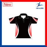 Camisa de polo llena de las señoras del sublimado de la venta caliente de la ropa de deportes de Healong