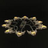 사슴 건전지 LED 가벼운 사슴 헤드 장식적인 가벼운 끈 빛