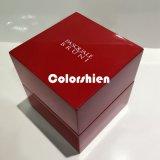 Boîte-cadeau rouge d'emballage de papier de montre de chapeau de carton de qualité