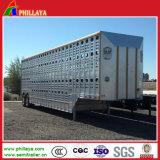 アルミニウム鋼鉄半家畜動物輸送のトラックの牛馬のトレーラー