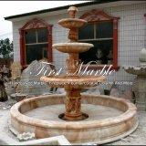 Fontaine de marbre rouge de coucher du soleil pour un cadeau Mf-1000