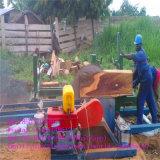 Segheria di legno diesel circolare con il carrello da vendere