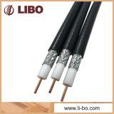 Câble coaxial de liaison de Rg11 CATV avec la couverture de tressage de 60%